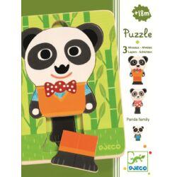 Háromrétegű puzzle - Panda család