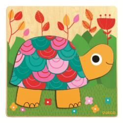 Színes teknőc kirakó
