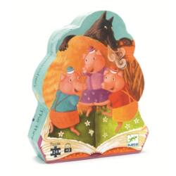 A három kismalac_ 24 db-os óriás puzzle _ Djeco