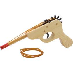 Fa pisztoly gumilövedékkel
