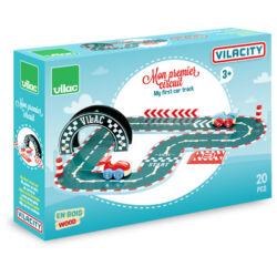 Vilacity 20 db-os kis versenypálya fából - Vilac