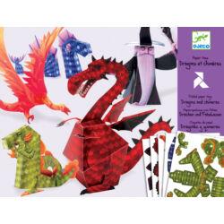 Sárkányok és mesebeli lények : 3Ds figurák papírból