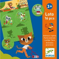 Lottojáték Vicces állatok, Djeco logikai társasjáték ,(2-5 év)