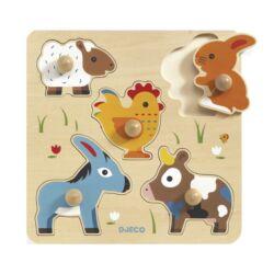 Djeco formaberakó puzzle Hihan &co
