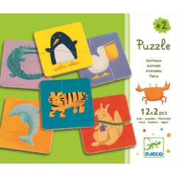 Vidám állatok- Mágneses puzzle fából