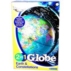 Világító földgömb 2 az 1-ben