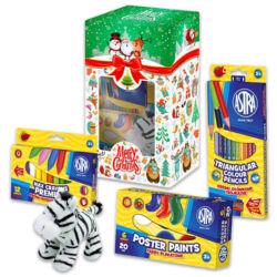 Karácsonyi kreatív ajándékcsomag zebra plüssfigurával