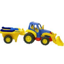Óriás traktor _talicskával_miniland