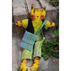 Textil Cica fiú, levehető ruhával