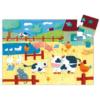 Kép 2/2 - Formadobozos puzzle - Bocik és tehenek - Djeco puzzle 3-6 éves korig