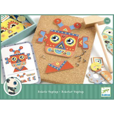 Kalapálós játék - Kip-kop robot - Djeco fejlesztőjáték 4-7 éves korig