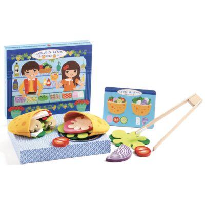 Cyrus és Léna - Pita készítés - Djeco szerepjáték 3-5 éves korig