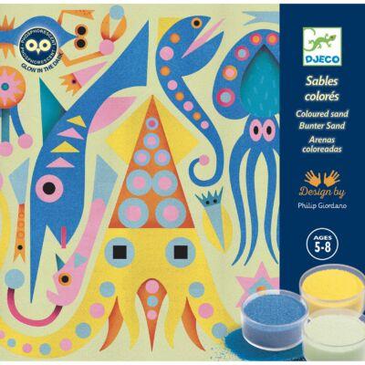 Homokkép készítő - A tenger fényei - Sea lights - Djeco kreatív készlet 5 éves kortól