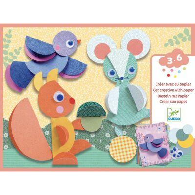 Kollázs műhely - Körbe-körbe - Djeco kreatív készlet 3-6 éves korig