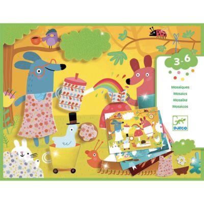 Kollázs műhely - Mozaikkép készítés - Djeco kreatív készlet 3-6 éves korig