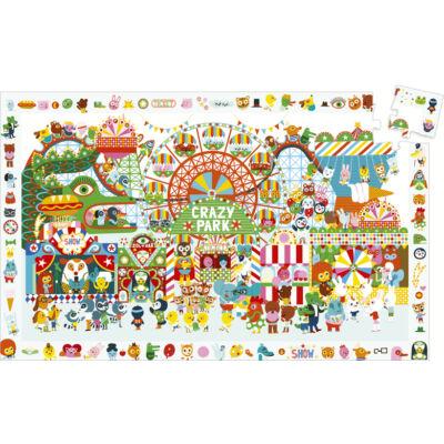 Böngészős puzzle - Crazy Park _35 db-os, megfigyelő puzzle, Djeco