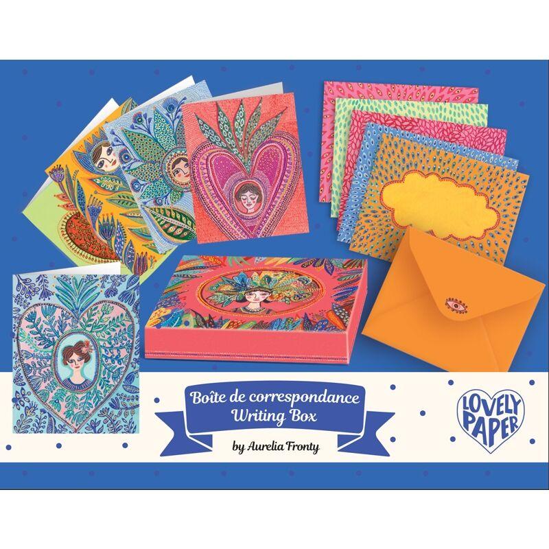 Levelezőlap készlet - Aurelia - Djeco kreatív készlet 6 éves kortól