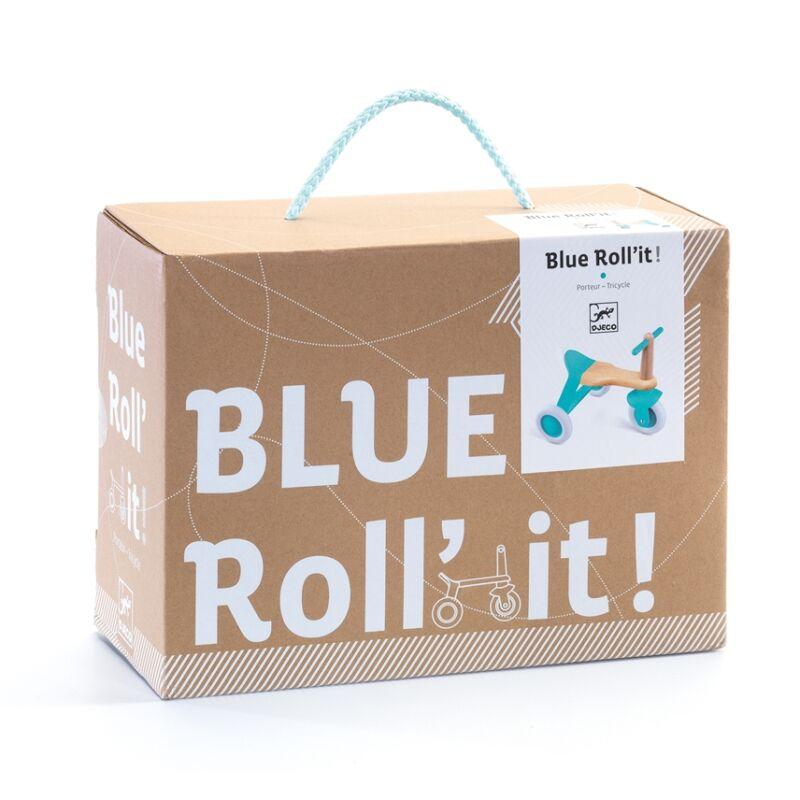Futó-tricikli - Blue Roll'it! - Djeco fejlesztő játék 1-3 éves korig