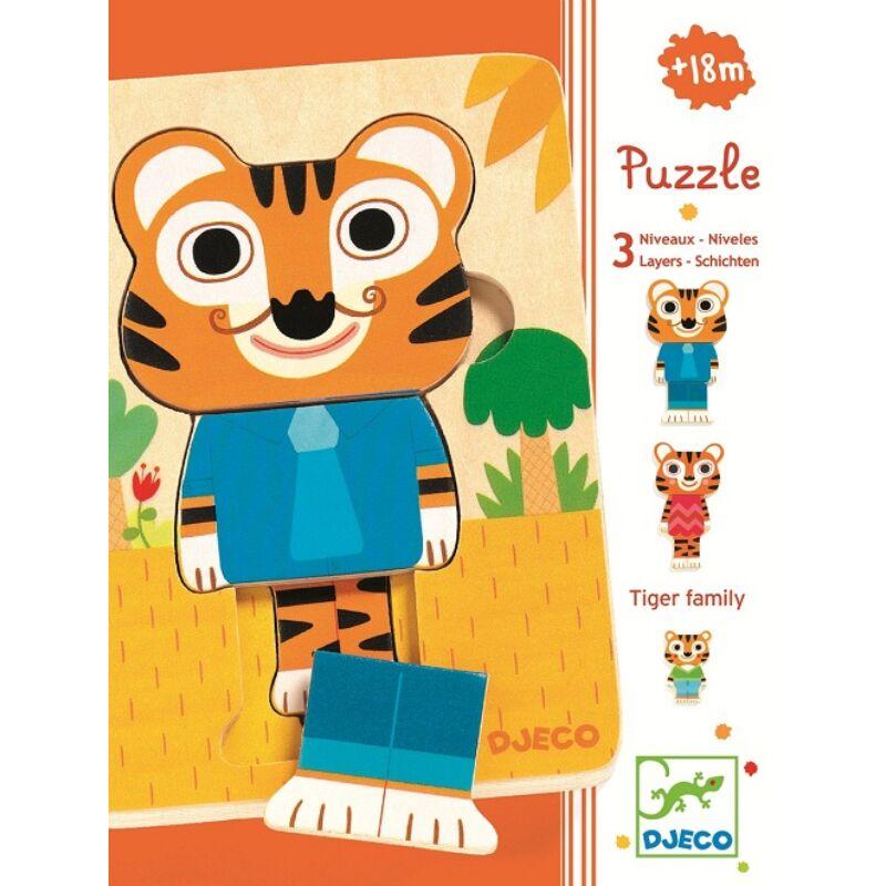 Háromrétegű puzzle-Tigris család