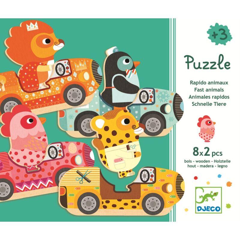 Állatos szín és formafelismerő puzzle, Djeco puzle kicsiknek