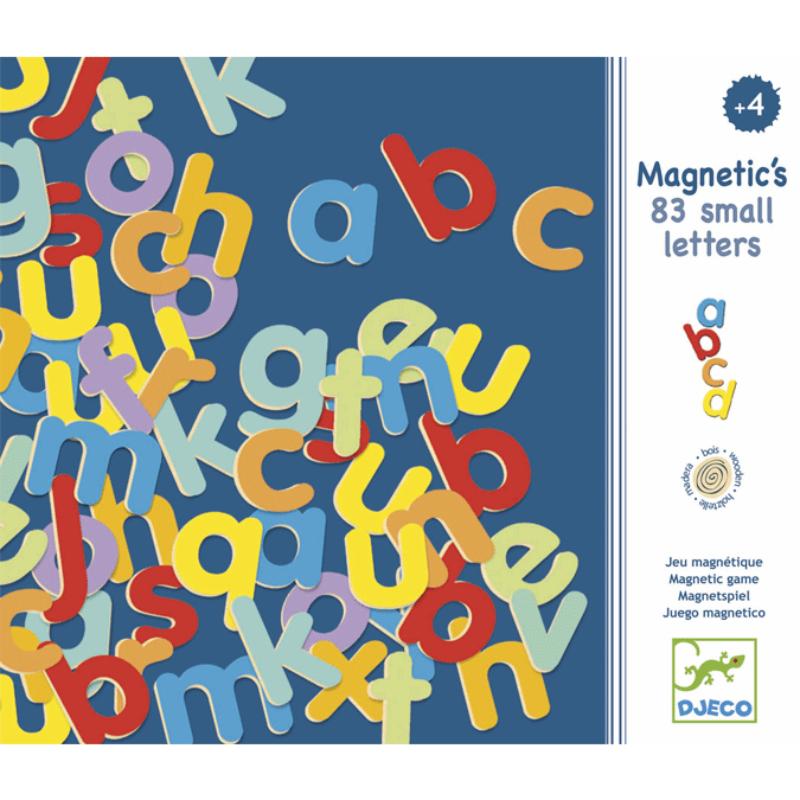 Mágneses betűkészlet - Kisbetűk - Djeco fejlesztő játék 4 éves kortól