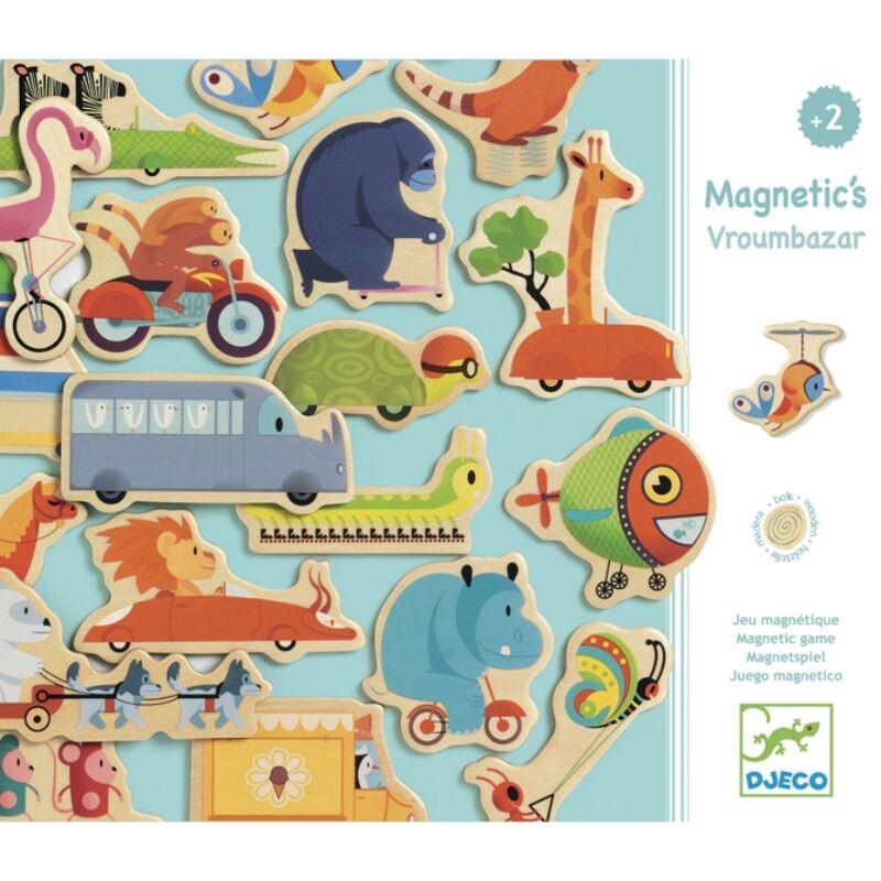 Mágneses kirakó - Helikopter - Djeco fejlesztő játék 2-4 éves korig
