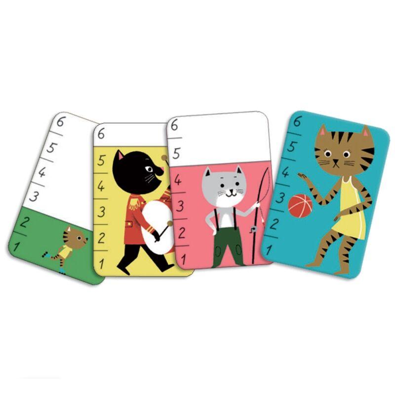 Kártyajáték - Macskacsata, Djeco kártyajáték 3-6 éves korig