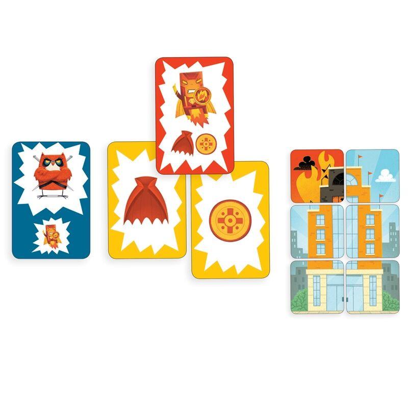 Kártyajáték - Hős város, Djeco társasjáték 6-99 éves korig