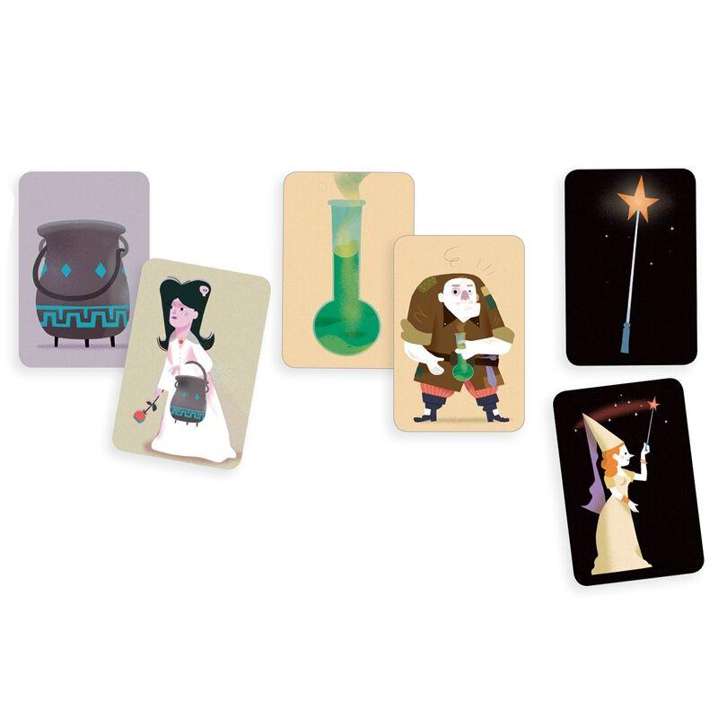 Kártyajáték - Varázsló iskola, Djeco társasjáték 5-99 éves korig