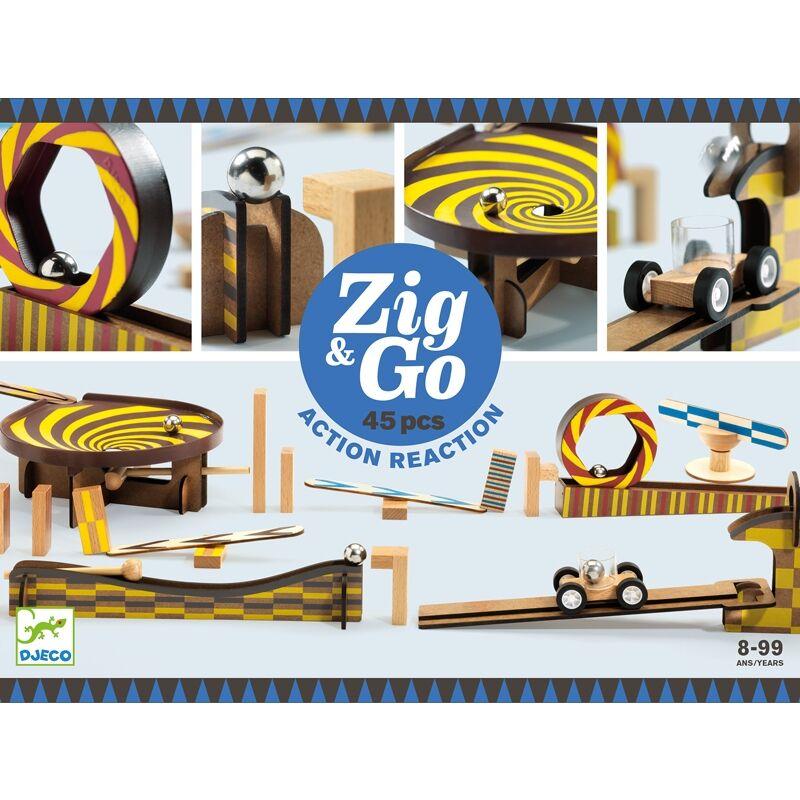 Építőjáték - Sokasodó - 45 db - Zig & Go, Építőjáték Djeco, 7-99 éves korig