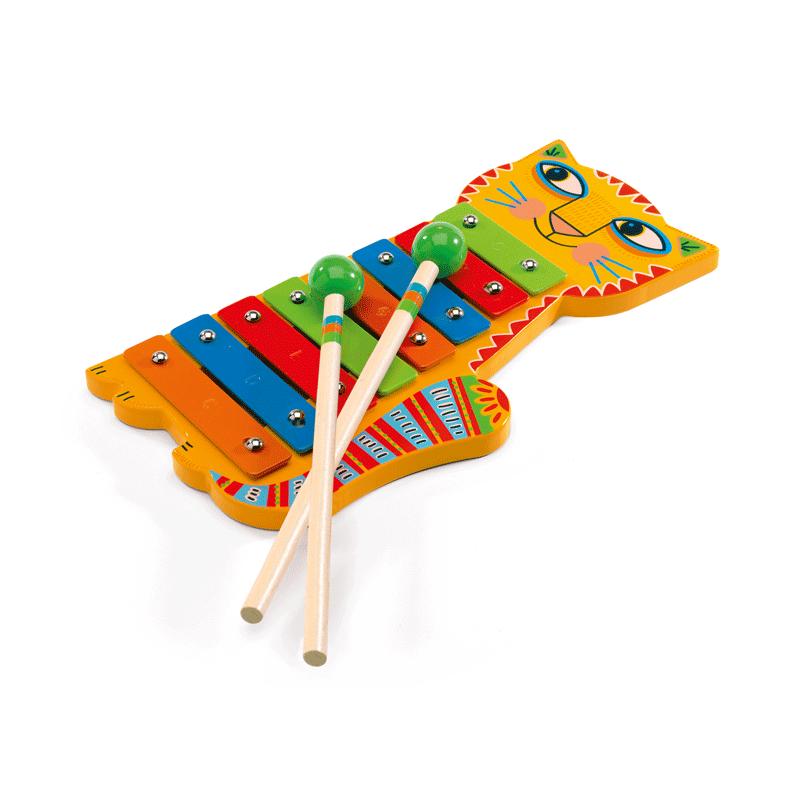Játékhangszer - Metalofon - Djeco hangszer 3-6 éves korig