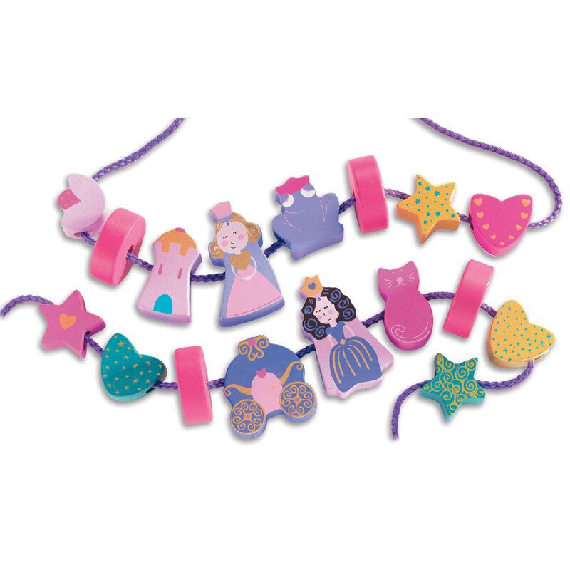 Hercegnős fűzőcske, Djeco kreatív szett 2-4 éves gyerekeknek