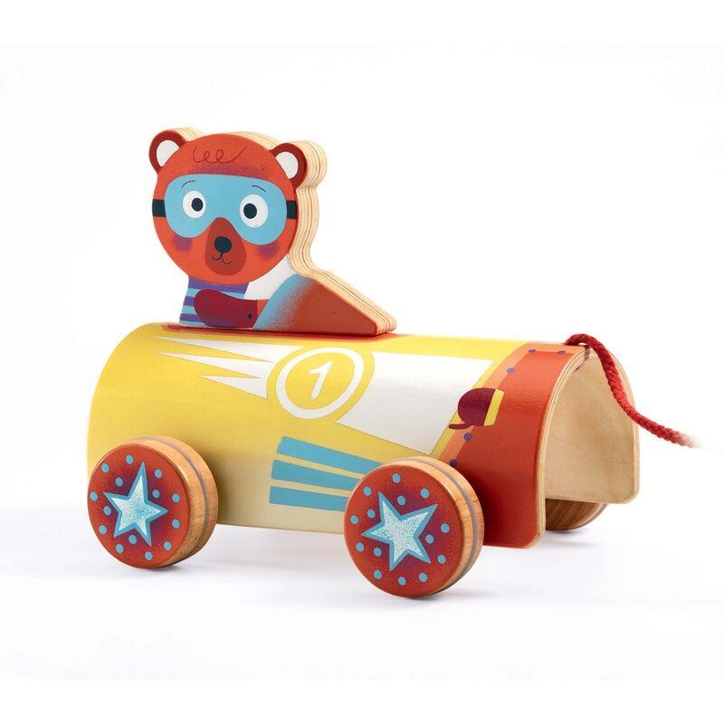Húzható játék - Autós Maci