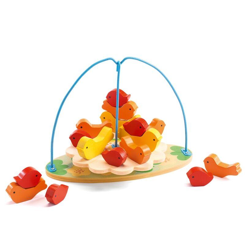 Építőjáték - Csip-csip egyensúly, Djeco építőjáték 3-6 éves korig