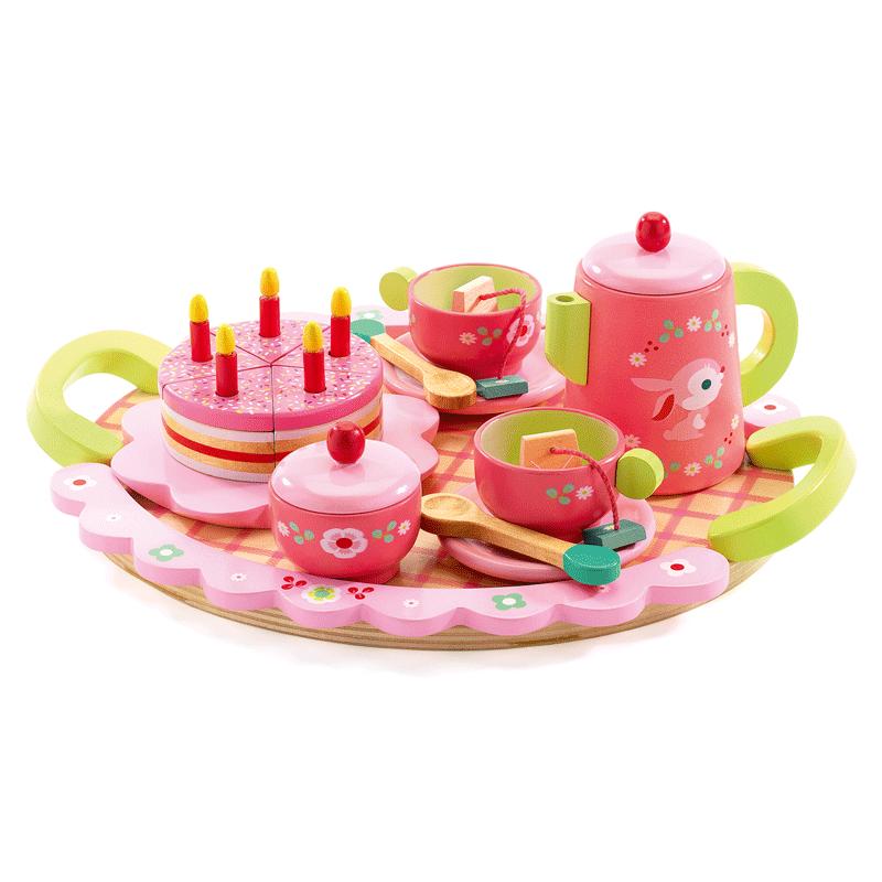 Lili Rose tea party készlet, Djeco szerepjáték 4-8 éves korig