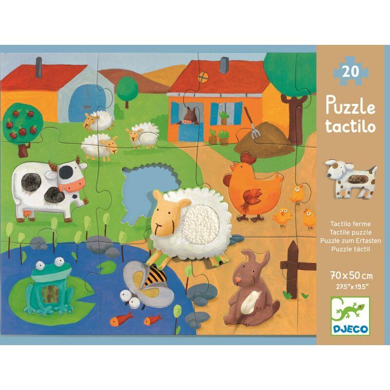Simogatós óriás puzzle 20+8 db-os, Djeco különlegesség, DJ7117, 3 éves kortól