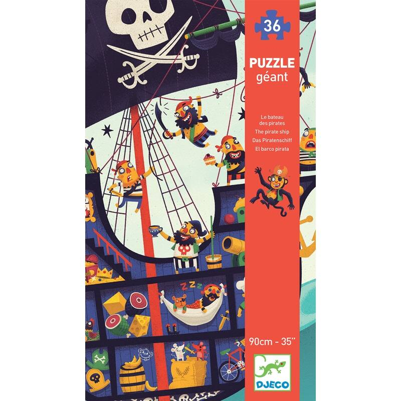 Óriás puzzle - Kalózhajó - Djeco puzzle 4-8 éves korig