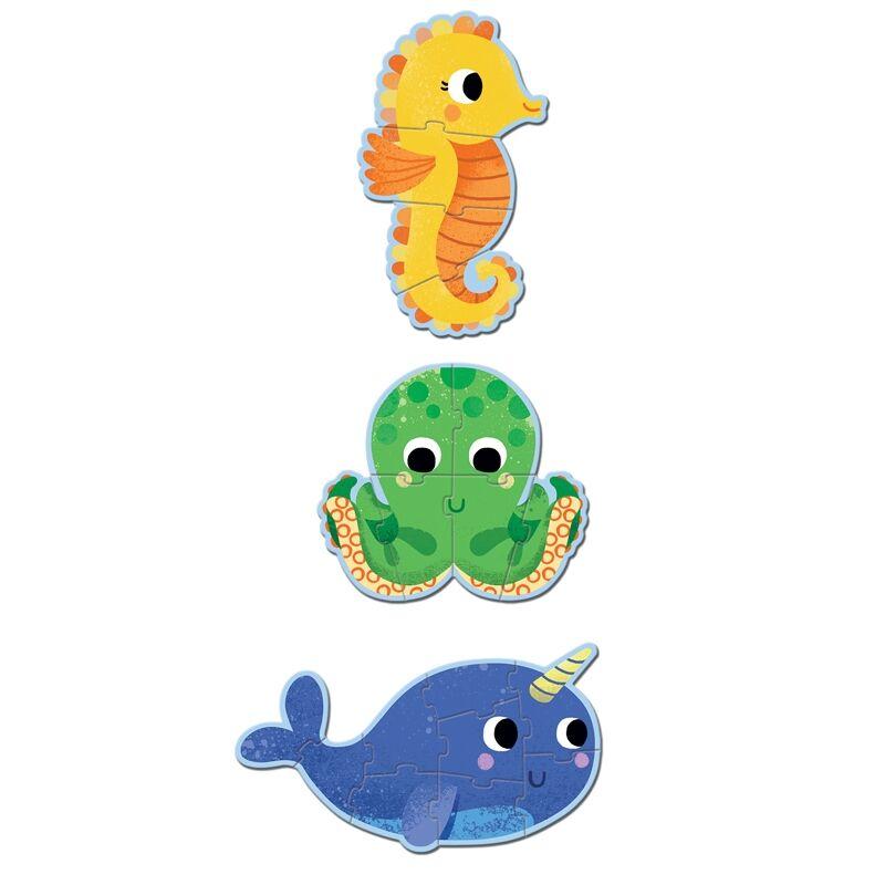 Primo puzzle - A tengerben, Djeco 4, 6, 9 db-os puzzle 2-4 éves korig