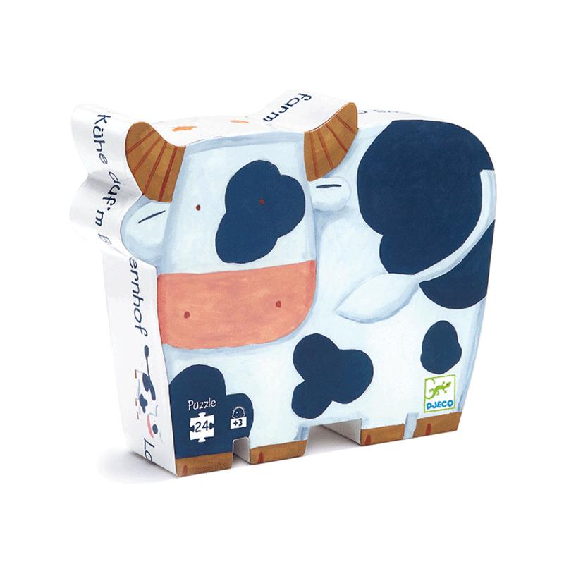 Formadobozos puzzle - Bocik és tehenek - Djeco puzzle 3-6 éves korig