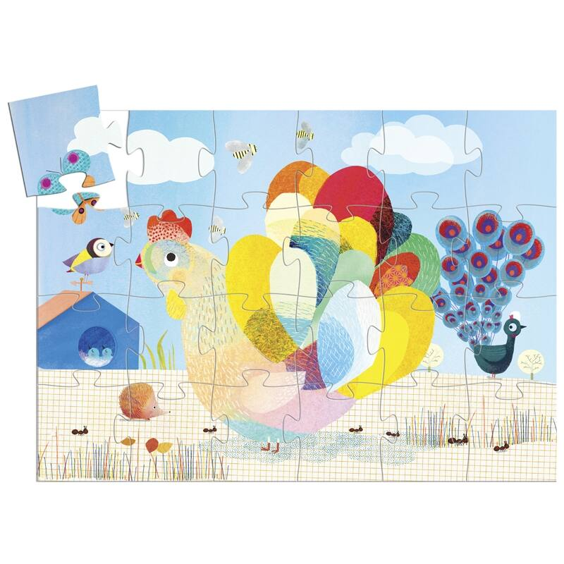 A bölcs tyúk - Formadobozos Djeco puzzle 3-6 éves korig