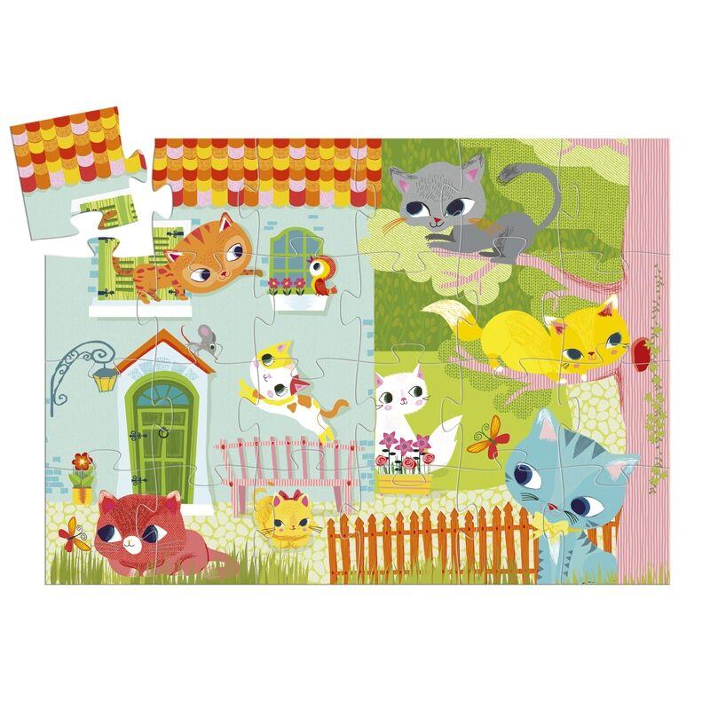 Formadobozos puzzle - Cicus és barátai, Djeco formadobozos puzle