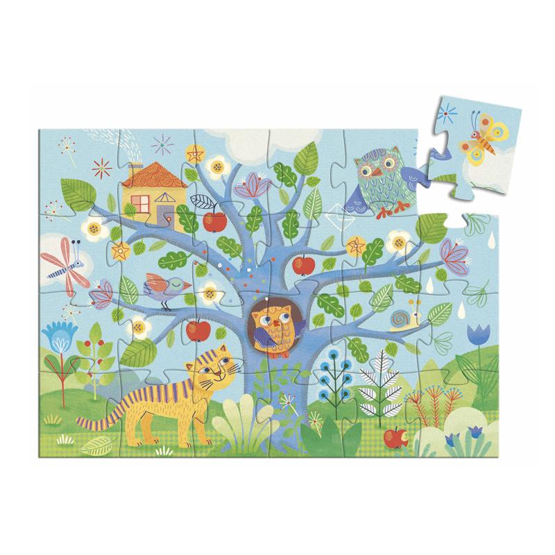 Formadobozos puzzle - Hello Bagoly- Djeco puzzle 3-6 éves korig