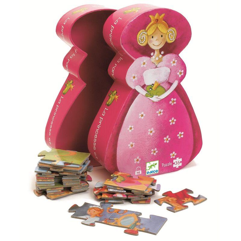 A Királylány és a béka, Djeco formadobozos puzzle 4 éves kortól