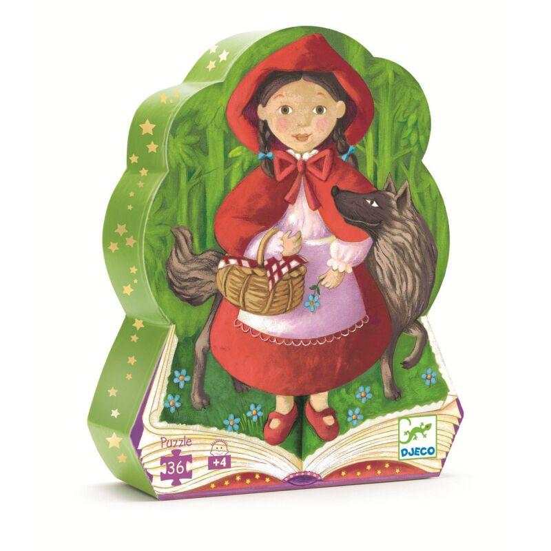 Piroska és a farkas- 24 db-os puzzle - Djeco formadobozos puzzle 4-8 éves korig