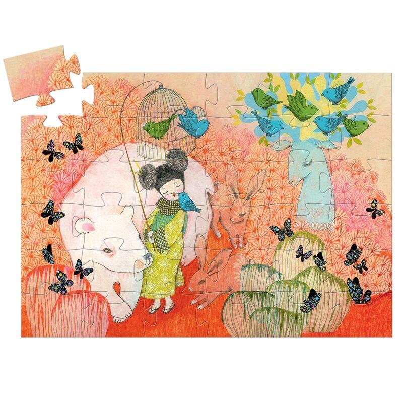 Formadobozos puzzle - Kokesi baba - Djeco puzzle 4-8 éves korig