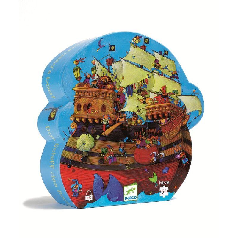 Barbarossa hajója  - 54 db-os formadobozos puzzle, Djeco puzzle
