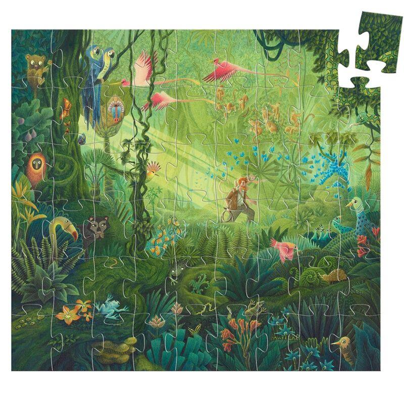 Formadobozos puzzle - Dzsungel, Djeco puzzle 5-8 éves korig