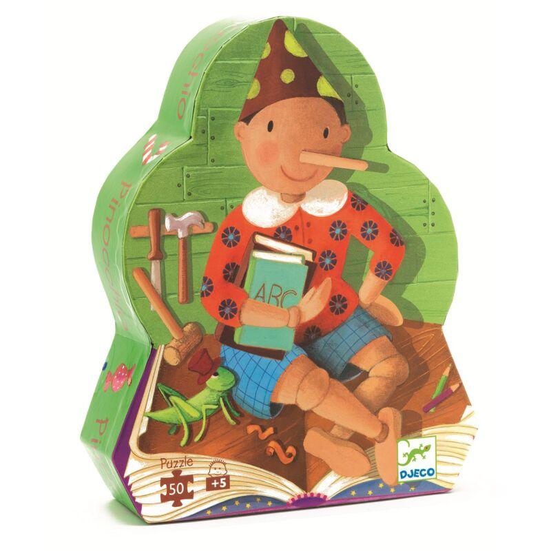 Pinoccio  - 50 db-os puzzle - Djeco formadobozos puzzle 5 éves kortól