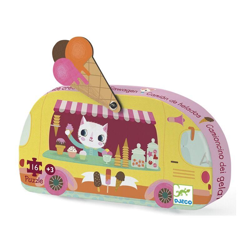 Mini puzzle - Fagyis kocsi - Djeco formadobozos puzzle 3 éves kortól