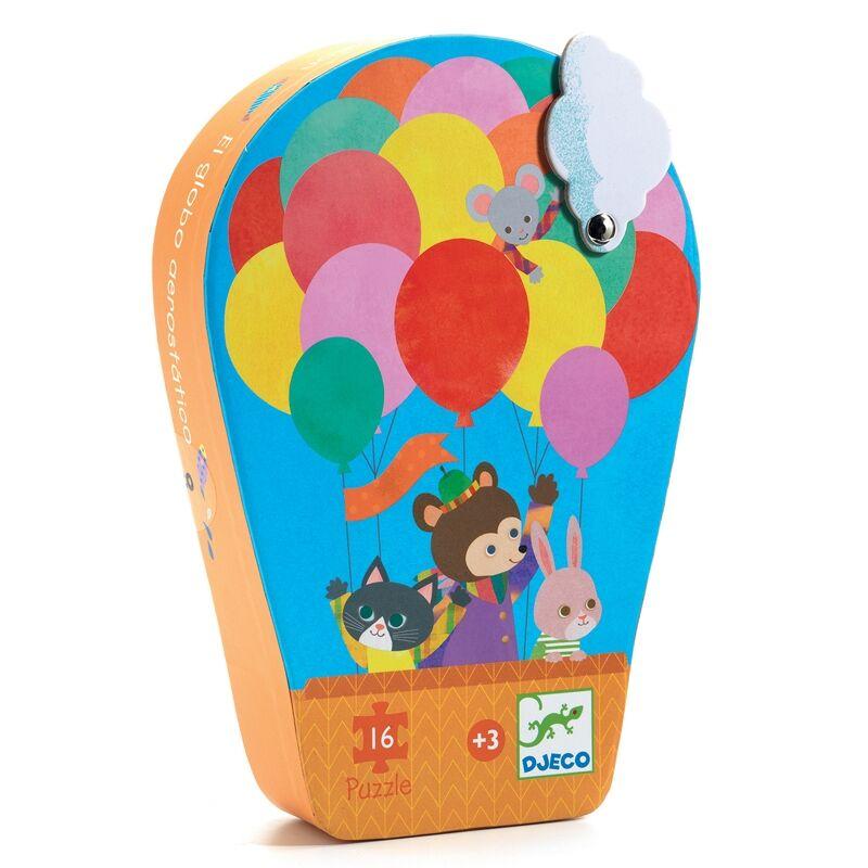 Formadobozos puzzle - Hőlégballon utazás - Djeco puzzle 3-5 éveseknek